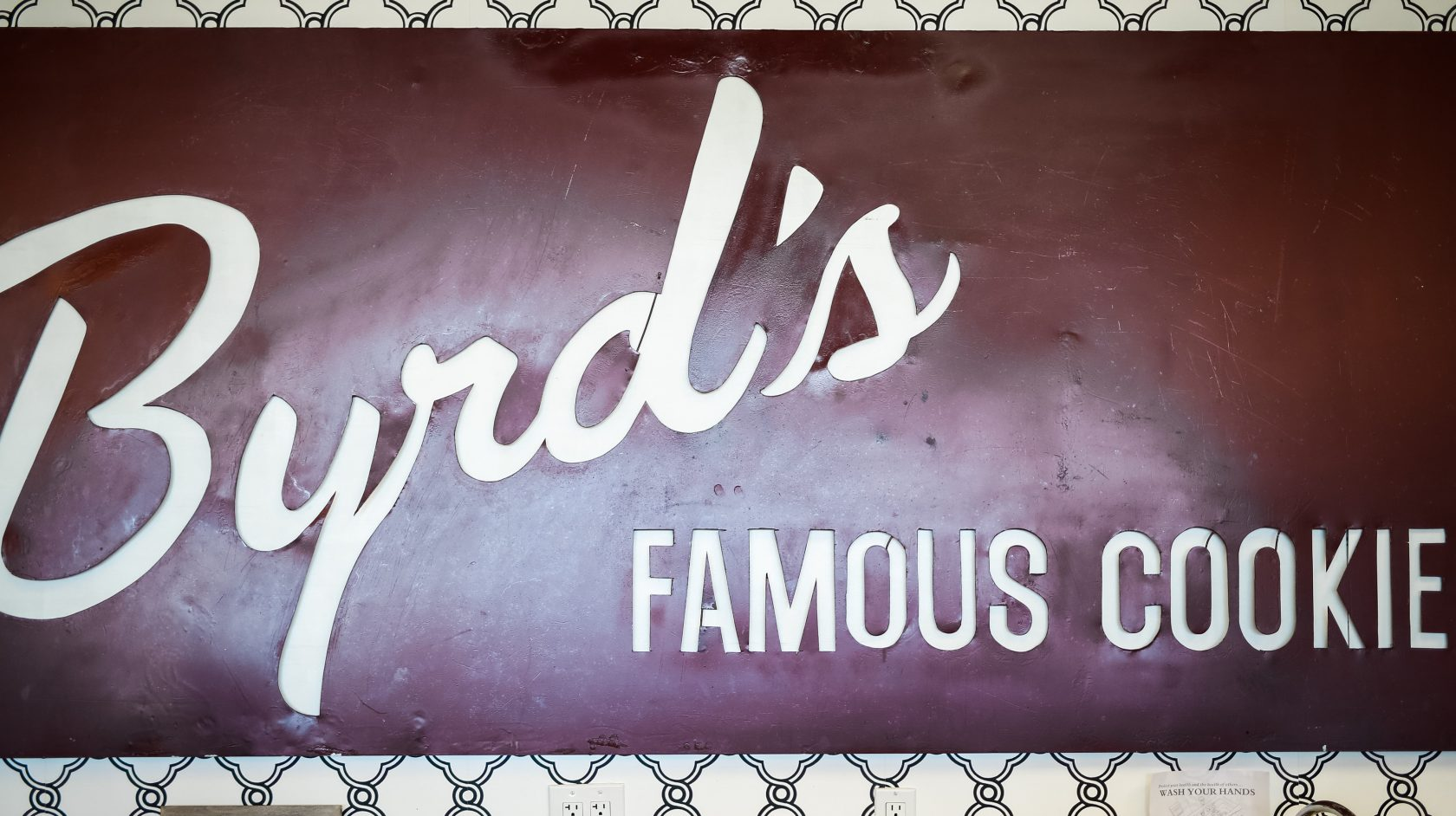 Byrd's famous cookies sign
